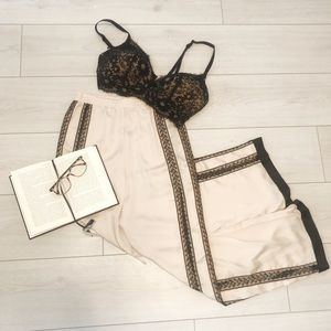 NWT Victoria's Secret satin lace pyjama pants
